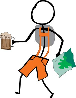 Orange Lederhosen